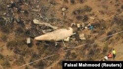 Vendi ku është rrëzuar aeroplani - Pakistan