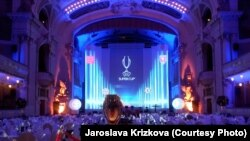 Czech Republic -- Super Cup is displayed during a ceremony in Prague, August 29, 2013