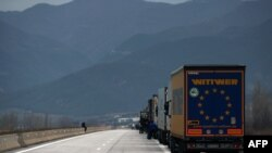 Intrarea în Grecia prin vama Kulata-Promachonas