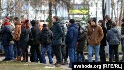 Студэнцкі марш «Каханьне і салідарнасьць». Менск, 2 сьнежня 2015 году