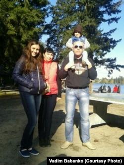 Вадим Бабенко с семьей