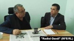 Бобоҷон Икром зимни сӯҳбат бо хабарнигори Радиои Озодӣ