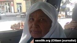 80-летняя жительница Маргилана, отдавшая последние деньги на замену паспорта.