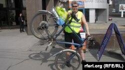 Журналист Михаил Кирц готов подарить свой велосипед Владимиру Путину