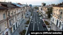 Улица Большая Морская в Севастополе после реконструкции
