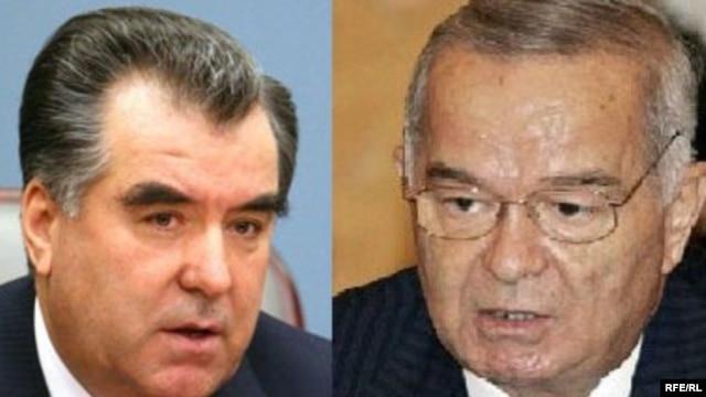 Emomali Rahmon (left) and Islom Karimov