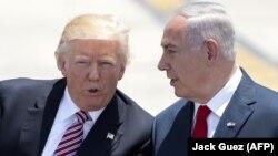 Дональд Трамп (слева) и Беньямин Нетаньяху (справа), 22 мая 2017