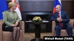 Obnoviti odnose Hrvatske i Rusije: Kolinda Grabar-Kitarović i Vladimir Putin