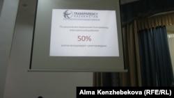 Transparency Kazakhstan ұйымдастырған ата-аналар жиналысында көрсетілген слайд. Алматы, 17 тамыз 2016 жыл.