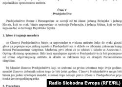 Član iz Ustava o izboru članova Predsjedništva BiH