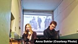 Выступление Анны Боклер и Катрин Ненашевой в поддержку заключенных. Фото из личного архива