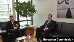 Marian Lupu primit de comisarul european Štefan Füle in Bruxelles
