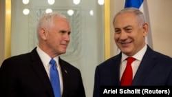 მაიკ პენსი და ბენიამინ ნეთანიაჰუ. იერუსალიმი, 2018 წლის 22 იანვარი