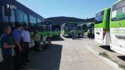 «Наше дайте, чужое не просим!» В Семее водители автобусов вновь вышли на протест
