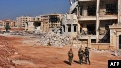 Правительственные войска на западе Алеппо. 10 ноября 2016 года.