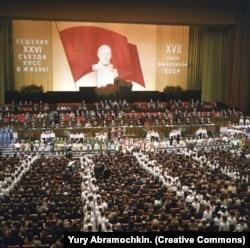 Пионеры и школьники на XVII съезде профсоюзов в 1982 году