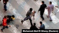 محتجون قرب ميدان التحرير في القاهرة