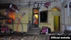 Місце вибуху біля кафе в Одесі, 2 липня 2015 року (фото з сайту МВС)