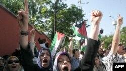 تظاهرات ضد اسرائیلی در ترکیه