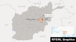 د افغانستان په عمومي نقشه کې میدان ورګ