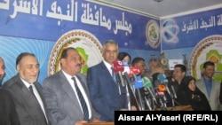 النجف مؤتمر صحفي لوزير السياحة والاثار عادل شرشاب