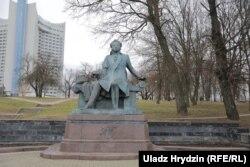 Помнік Аляксандру Пушкіну ў Менску, 20 студзеня 2020 году