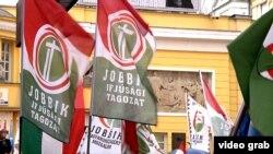 На мітингу партії «Йоббік» у Будапешті, архівний відеокадр