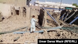 File photo of Pakistani bombing in North Waziristan.