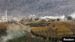 После падения одного из снарядов, прилетевшего в Турцию из Сирии...