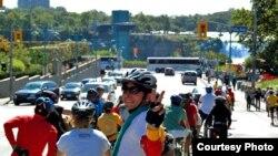 گروه دوچرخهسواری برای حقوق بشر در ایران در راه نیویورک