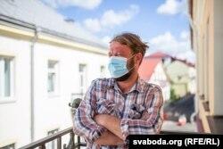 Вадзім Саранчукоў, намесьнік старшыні партыі БНФ, каардынатар кампаніі #ByCovid-19 у Горадзенскай вобласьці, 2020 год.