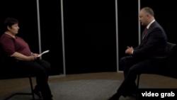 Igor Dodon intervievat de Valentina Ursu în studioul Europei Libere