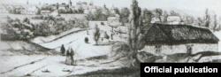 """Colonia elvețienilor la Șabag, desen Eugene Duffoug-Favre (Foto: François-David Noir, """"Journal de voyage"""")"""