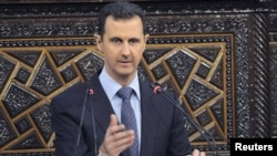Syrian President Bashar al-Assad vowed to crush an antiregime uprising in a speech to parliament in Damascus on June 3.