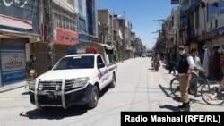 د بلوچستان په مرکزي ښار کوټه کې پوليس ګزمه کوي. انځور- ارشیف