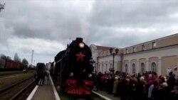 В Керчи встретили «Поезд Победы» под советскую песню (видео)