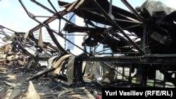Центр Грабаря после пожара