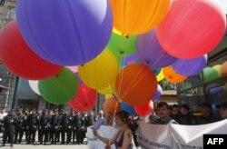 Гей-прайд у Кіеве 18 траўня 2013 году