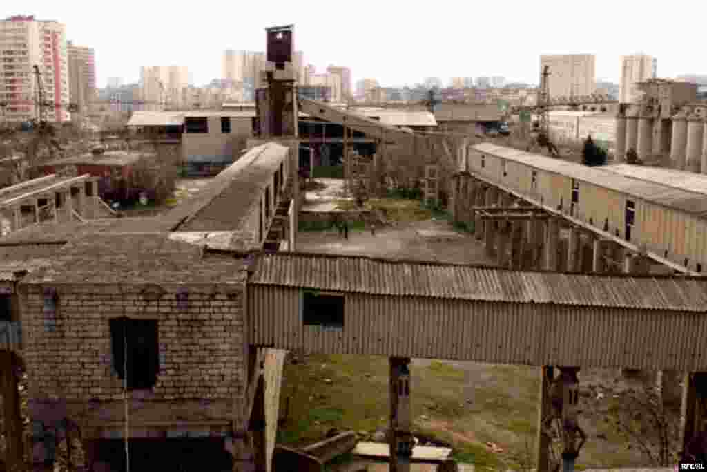 This factory in Baku, inactive since the Soviet era, provided shelter for ethnic Azeris fleeing the conflict.