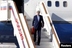 Державний секретар США Джон Керрі після прибуття до Москви. 23 березня 2016 року