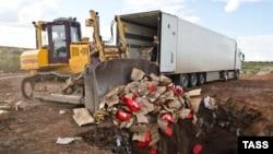 Уничтожение продуктов питания в Оренбургской области (архив, 2015)
