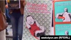 Армения - Беременные женищины борются за свои права, 23 октября 2014 г.