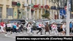 Жаночы марш салідарнасьці, Менск, 29 жніўня.