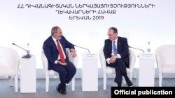 Հայաստան -- Վարչապետ Նիկոլ Փաշինյանը և արտգործնախարար Զոհրաբ Մնացականյանը ելույթ են ունենում Հայաստանի դիվանագիտական կորպուսի ամենամյա համաժողովում, 27-ը օգոստոսի, 2019թ․