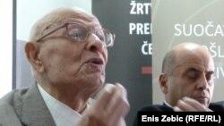Juraj Hrženjak i Ivo Goldstein na predstavljanju projekta, 20. rujan 2012.