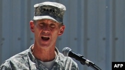 "General Stanley McChrystal, the former top U.S. commander in Afghanistan who was removed from the post over comments in ""Rolling Stone"" magazine, said he was leaving his post with some commitments unfulfilled."