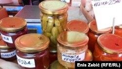Zimnica na zagrebačkoj tržnici