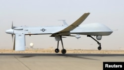 An unmanned Predator drone
