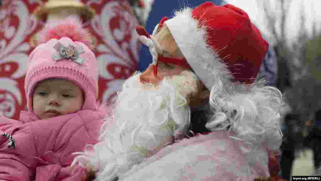 Дед Мороз и маленькая фея