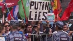 Oppozisiýa liderleri Moskwadaky protestçilere ýüzlenýär